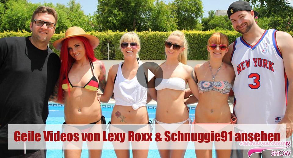 Die Rene Schwuchow Show auf Sport1 mit Lexy Roxx, Schnuggie91 und Lucy Cat - jeden Freitag um 23:54 Uhr.